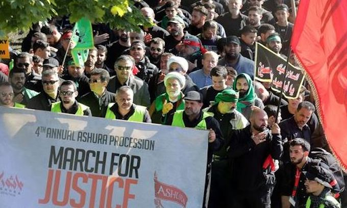 Muslims march in Dearborn