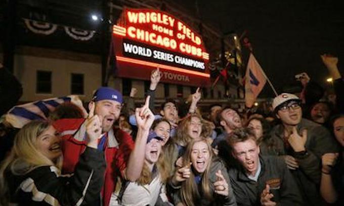 Cubs win! Cubs win! Cubs win!