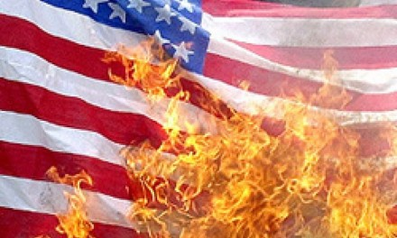 Communists burn Old Glory outside White House