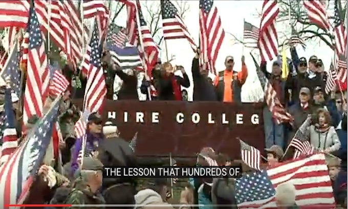 Veterans Protest Flag Removal at Hampshire College