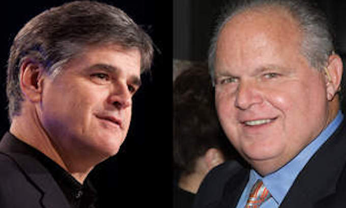 Talk radio ratings: Hannity #1, Limbaugh #2