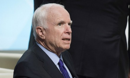 McCain denies saying American leadership better under Obama