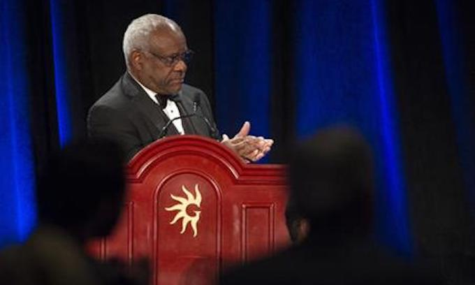 Clarence Thomas breaks three-year silence during oral argument