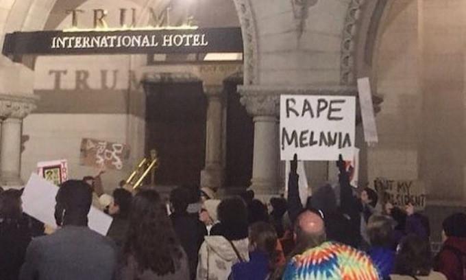 Where was the Secret Service when #AssassinateTrump and #RapeMelania were trending?