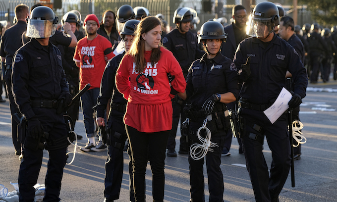 Dozens arrested across U.S. calling for $15 minimum wage on 'Day of Action'