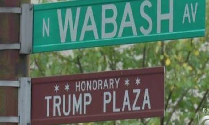 Leftist Chicago removes remaining Donald Trump street signs