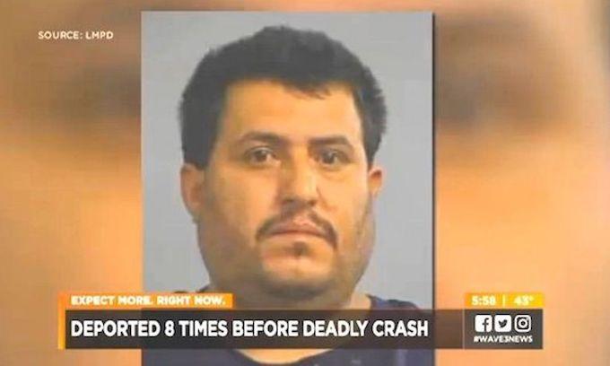 Illegal alien kills 2 after 8 deportations