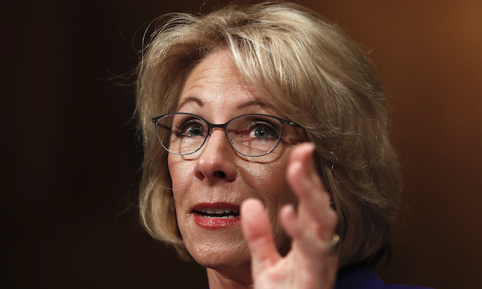 Betsy DeVos urges state legislators to take on foes of campus free speech