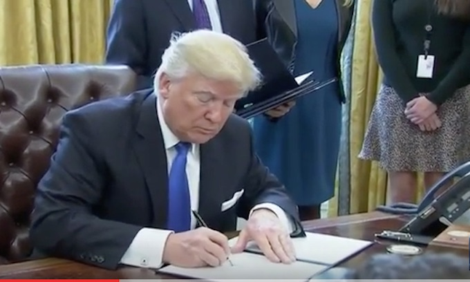 Hey Barack, Donald Trump's got your pen and phone