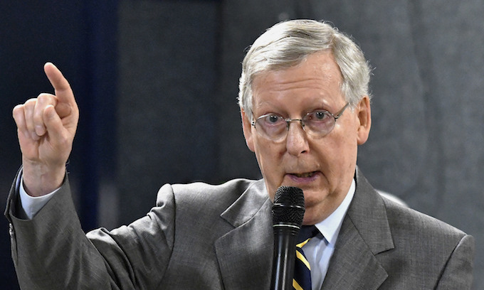 McConnell holds GOP unity, has the votes to set impeachment trial procedure