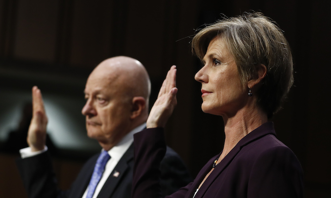 Sally Yates testifies about Michael Flynn as Trump calls probes a 'charade'
