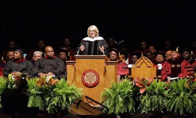 Black students boo, turn backs to Betsy DeVos at commencement address