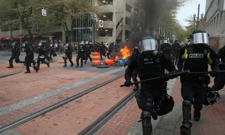 Portland May Day march erupts into fiery riot; 25 arrested