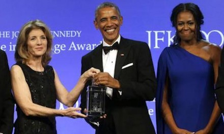 Obama Lectures Congress on Courage at Award Performance