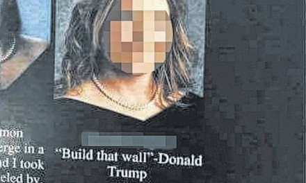 School censors yearbook over Trump comment