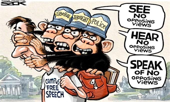 No Free Speech on Campus