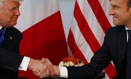Cocky Macron Brags About Hard Handshake with Trump