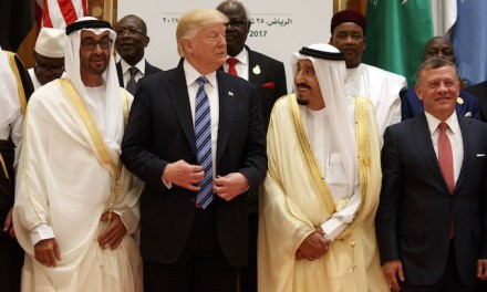 Trump Greeted at Saudi Royal Palace with Flags and the Star Spangled Banner