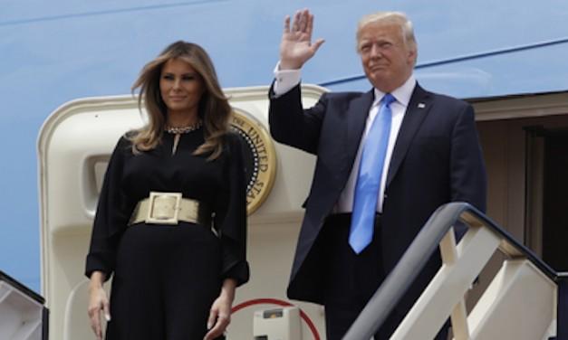 Trump gets warm greeting from Saudi Arabian king