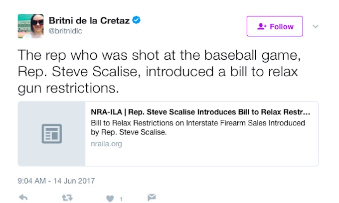 Rolling Stone, Washington Post Freelancer Blames Scalise For Getting Himself Shot