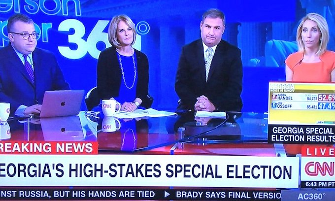 Media bias so thick at CNN you can see it on their faces