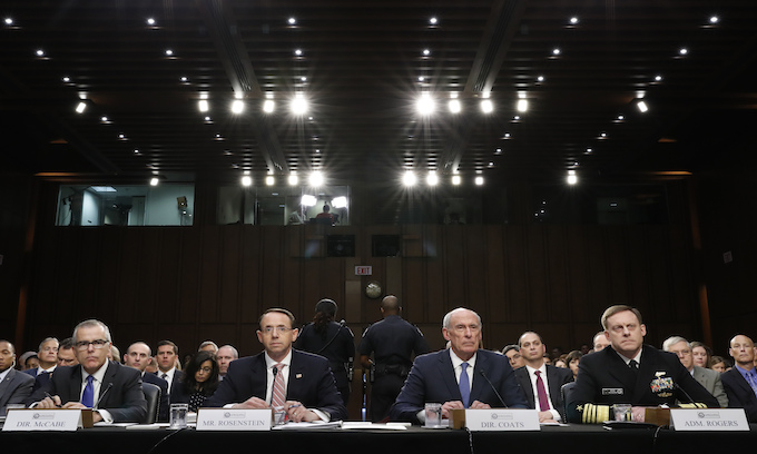 Coats, Rogers testify they have not been pressured by Trump administration