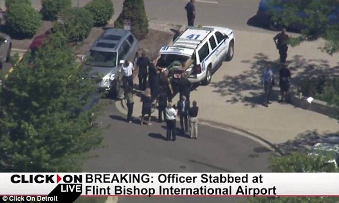 Allahu Akbar: Michigan airport evacuated after police officer seriously injured