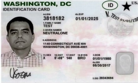 DC begins issuing gender-neutral driver's licenses