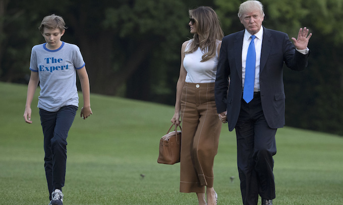 Melania: Son Barron was positive for COVID, now negative