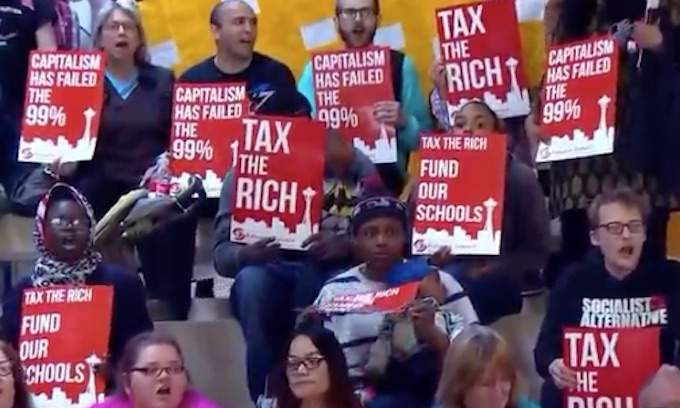 Proposed income tax on wealthy draws a crowd at Seattle City Council committee hearing