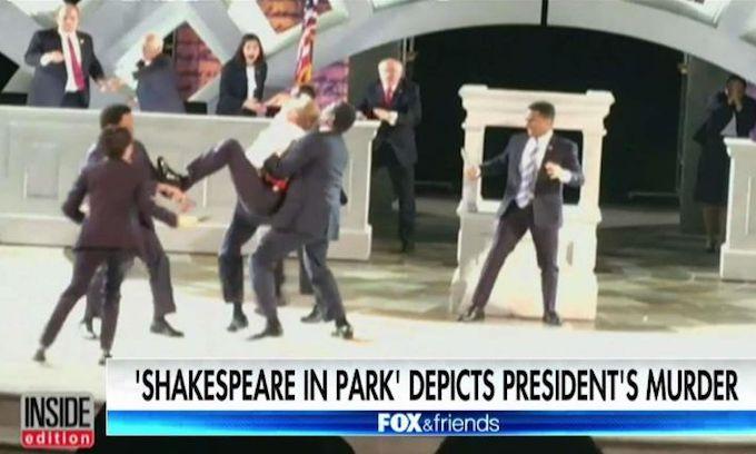 Manhattan theatre company loses corporate sponsors over Trump killing scene