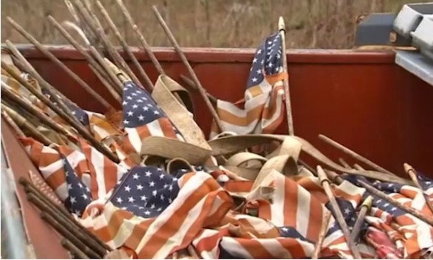 Veterans rescue American flags that were trashed at Missouri cemetery
