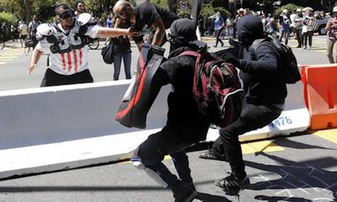 End of Freedom of Speech? Black-clad Antifa Storms Berkeley Peace Rally