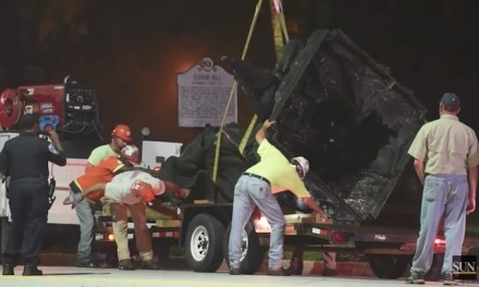Baltimore: Confederate monuments taken down by officials in the dark of night