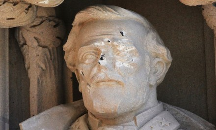 Statue of Confederate General Robert E. Lee at Duke University Defaced