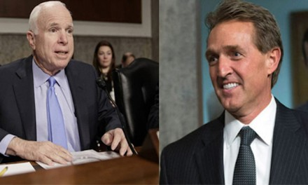 McCain, Flake under fire at home for failing to support Trump