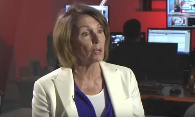 Nancy Pelosi says people can't 'yell wolf in a crowded theater'