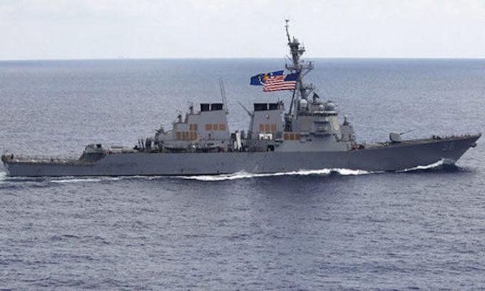 Damaged USS John McCain arrives in Singapore; 10 missing