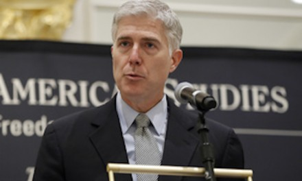 Gorsuch speaks to group meeting at Trump hotel, liberals freak out