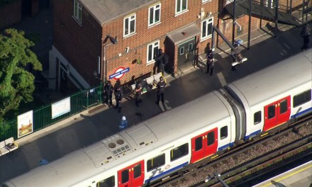 Manhunt on after bombing on London subway