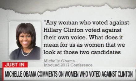 Michelle Obama: Trump's female voters 'voted against their own voice'