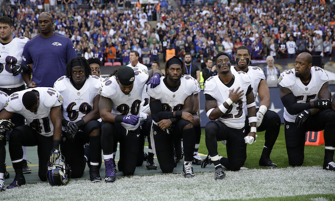 NFL kneelers ignore rise in black homicide rate