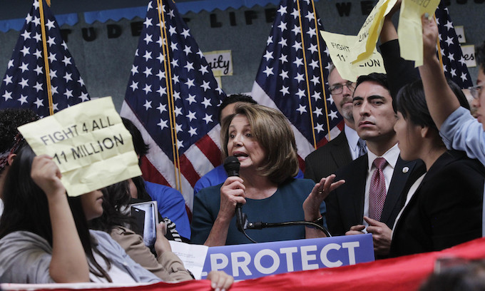 Pelosi: Dreamers' parents 'did a great thing' in sneaking them into U.S.