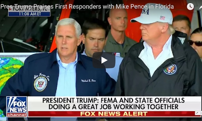Trump tours Irma damage in Florida, thanks first responders