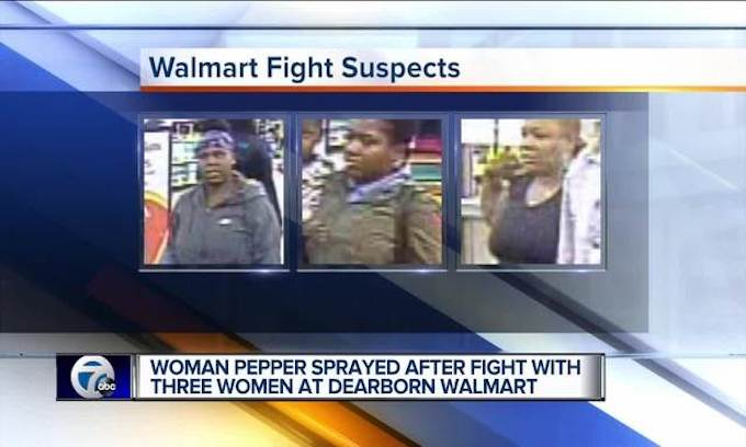 Walmart scene of another brawl, this time in Dearborn