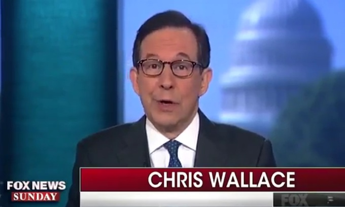 Chris Wallace doesn't like it when Fox News colleagues call out 'Fake News'