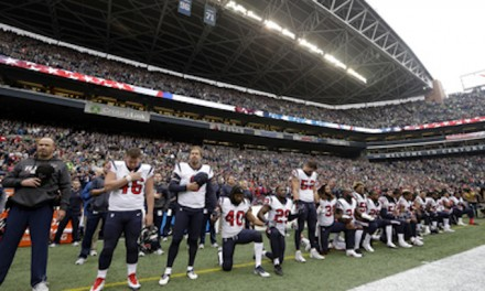 Most Houston players kneel during anthem, then lose the game