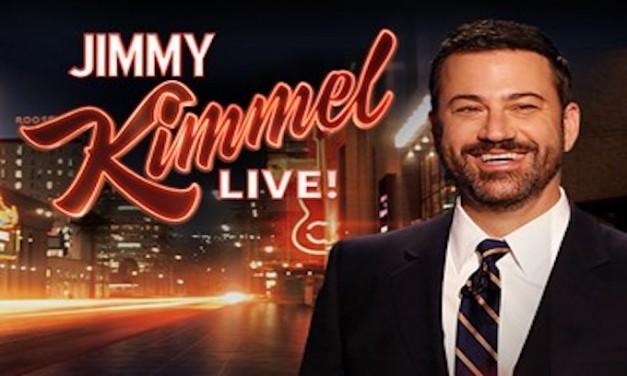 Jimmy Kimmel's political crying fits mocked in LA street art; show called 'Estrogen Hour'