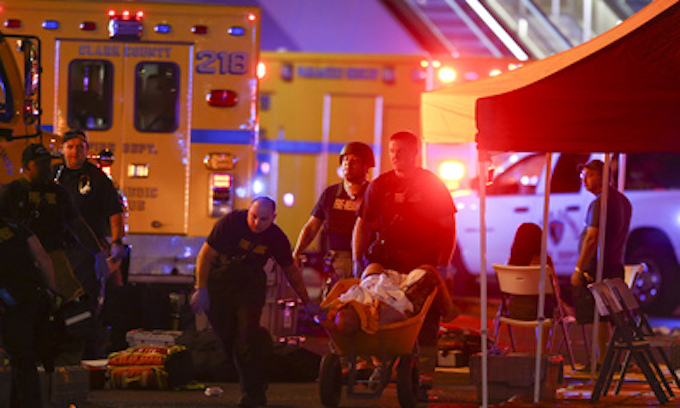 At least 58 killed as gunman opens fire at Las Vegas concert