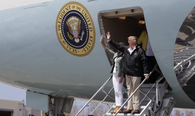 Trump, first lady, arrive in Puerto Rico